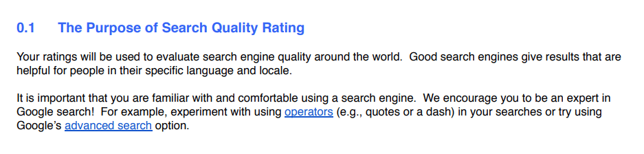 Search Quality Raters, autoridad de dominio