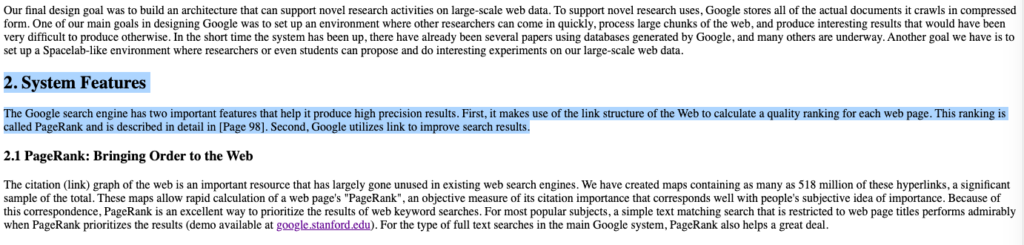 The Anatomy of a Large-Scale Hypertextual Web Search Engine, autoridad de dominio